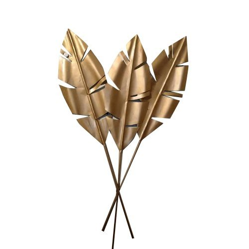 Three Golden Leaf Wall Decor Artifact