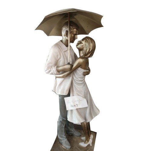 Lovely Umbrella Couple Table Decor Artifact