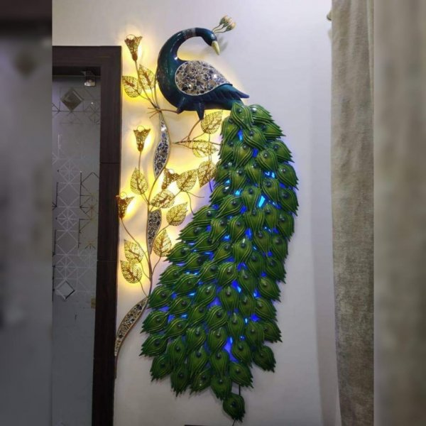 Peacock  With LED Wall Decor Artifact