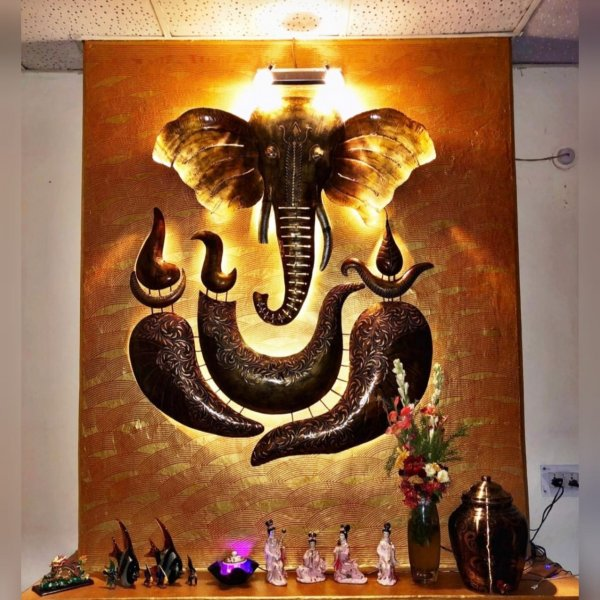 Two Part Ganesha Wall Decor Artifact