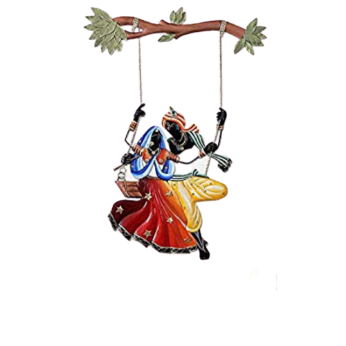 Radha Krishna Swing Wall Decor